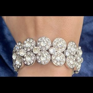 Jewelry - Chunky crystal wedding bridal stretch bracelet